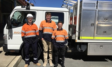 Evoenergy welcomes three new apprentices to the crew
