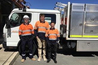 Evoenergy welcomes three new apprentices to the crew